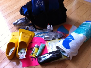 Swim bag loot!